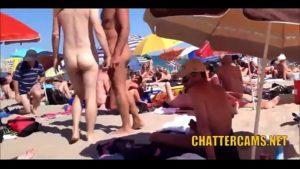 Melhores compilação de milfs na praia do nudista com camera escondida